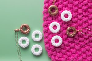 Real polo mints with copper clay polo mint necklaces